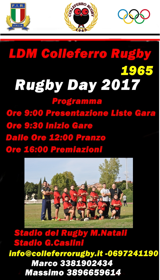 locandina rugby day 2017
